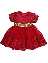 6e1c26d391c Baby Girls Princess Dress Toddlers Lace Bow-Knot Ball Gown Fancy Tutu Party  Outfits