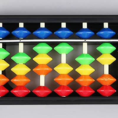 yuanhaourty 13 Column Abacus Toy Portable Plastic for Mental Arithmetic Soroban Calculating Tool with Colorful Beads Children's Educational Toys: Toys & Games