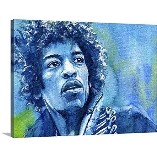 Jimi Hendrix Canvas Wall Art Print, 24