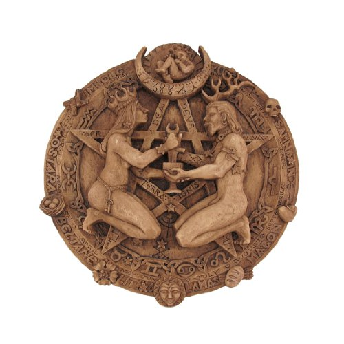 Wood Finish Great Rite Pentacle Wall Plaque Pagan Wicca Meaning Of Christmas