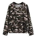 YANG-YI 2018 Hot Womens Long Sleeve Camouflage Sweatshirt Casual Blouse Pullover