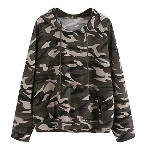 Dye Womens Jacket - Ghazzi Clearance Women Hoodies Sweatshirt Camouflage Long Sleeve Pullover Tops with Pocket Shirt Sweaters Blouse