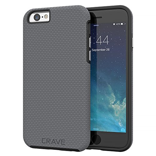 Price comparison product image iPhone 6 Case, iPhone 6S Case, Crave Dual Guard Protection Series Case for iPhone 6 6s (4.7 Inch) - Slate