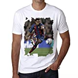 Ronaldinho Men's T-shirt Celebrity Star ONE IN THE CITY - White, M