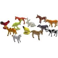 Toyvian Modelo de Animales de Granja Juguetes de simulación de Juguete para bebé niño niño 12pcs
