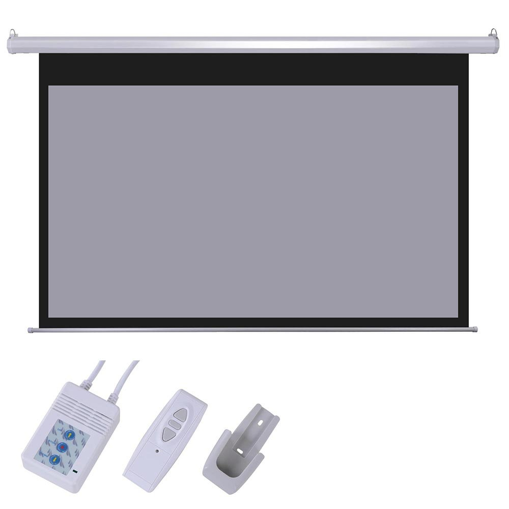 amazoncom yescom 100inches diagonal 169 grey material foldable electric motorized projector screen remote hd office products