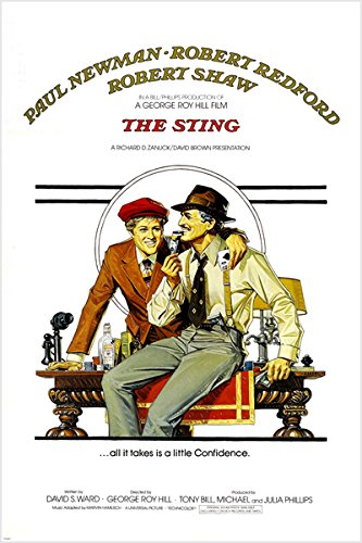 ROBERT REDFORD PAUL NEWMAN the sting movie poster ENTERTAINING CLASSIC 24X36 (reproduction, not an original)