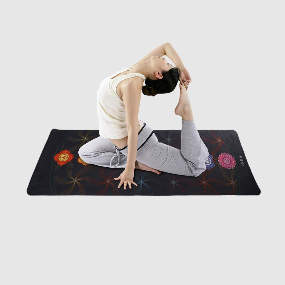 Best Gift For Christmas Holiday Wwww Travel Yoga Mat Non Slip Printed Suede Rubber Yoga Mat With Bag 72x 26 Portable 1 16 Inch Ultra Thin Folding Mat For Yoga Pilates Fitness Exercise