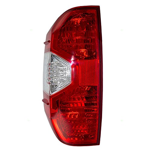 Taillight Tail Lamp Lens Driver Replacement for 14-17 Toyota Tundra Pickup Truck 81560-0C100 ()