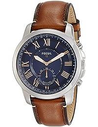 FTW1122 Q Grant Gen 2 Hybrid Smartwatch, Light Brown Leather