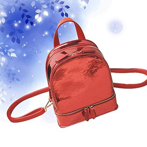 rugzak holografische 1pc pu rood stijl voor schooltas Koreaanse student tieners tnnOqIPx