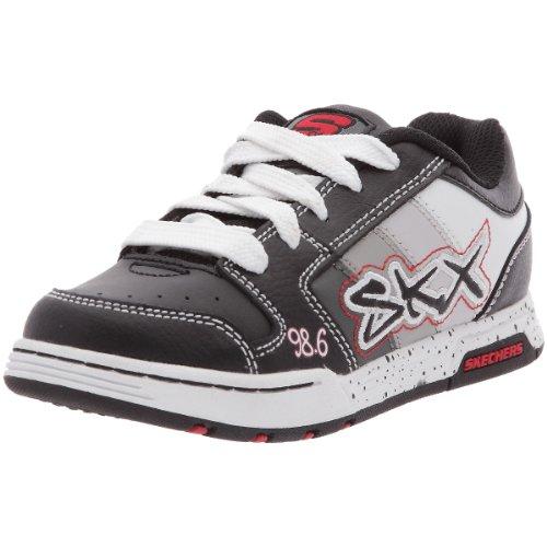 (Skechers Kids 91842L Little Kid/Big Kid Endorse Stream Sneaker,Black/Grey,11 M US Little Kid)