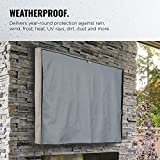 "VonHaus Outdoor TV Cover 40""- 42""– Weatherproof Universal Protector LCD, LED, Plasma Television Sets,Television Sets with Built in Remote Controller Storage"