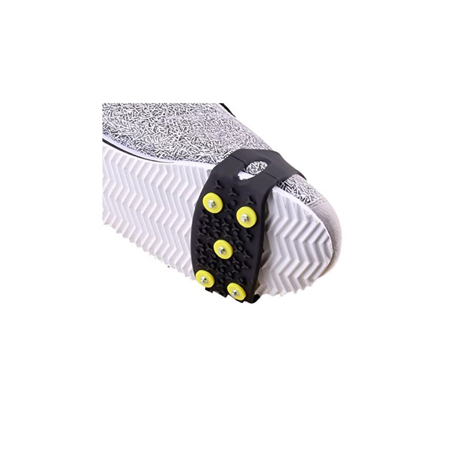 Icy Claws, AutumnFall(TM) 1 Pair Over Shoe Anti slip Shoe Boot Tread Studded Grips Snow Shoes Crampons, Ice Walker Walking