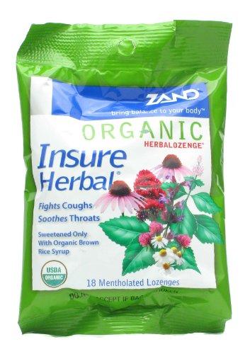 Organic HerbaLozenge Insure Zand 18 (Organic 18 Lozenges)