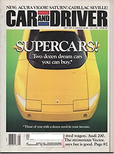 Car and Driver Magazine, May 1991 (Vol 36, No 11) Single Issue Magazine – 1991