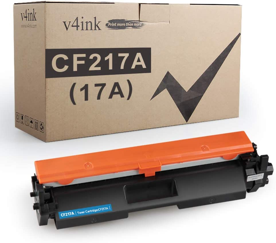 V4INK Compatible Toner Cartridge Replacement for HP 17A CF217A 217A Toner Black Ink for use in HP Laserjet Pro MFP M130fw M130nw M130fn M130a M102w M102a M130 M102 Printer