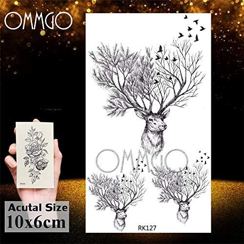 Yyoutop Geométrico Tribal Alce Ciervo e Tatuajes para Hombres ...