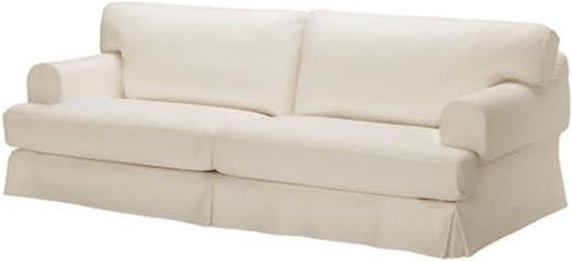 Custom Made for IKEA Ekeskog 3 Seater Sofa Slipcover Only Cotton Ekeskog Sofa Cover Replacement Custom Slipcover Replacement White