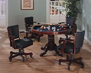 Three-in-One Cherry Finish Wood Dining Poker Bumper Pool Table with & Amazon.com - Three-in-One Cherry Finish Wood Dining Poker Bumper ...