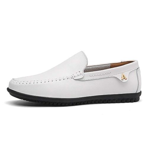 194bef00fc5a5 Hombres Mocasines Verano Flexibles Zapatos de conducción Transpirable  Slip-on Zapatos artesanales de Cuero de Barco  Amazon.es  Zapatos y  complementos