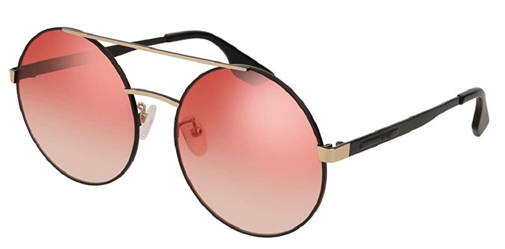 Alexander McQueen MQ0092S 004 Black//Gold Aviator Sunglasses