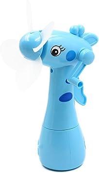 towinle mano ventilador portátil dibujos animados Mini ventilador mini Función pulverizador spray enfriamiento Fan mano Held mano impresión Mini Fan Niños Verano juguete, Azul: Amazon.es: Bricolaje y herramientas
