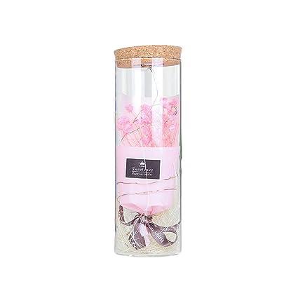 Healifty Preservado Flores secas románticas Botella de ...