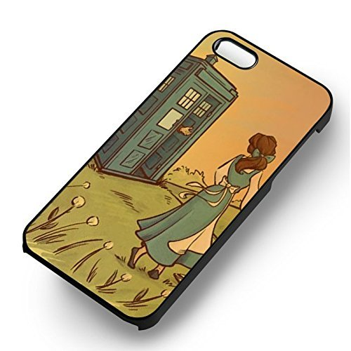 Princess Tardis Come Here pour Coque Iphone 6 et Coque Iphone 6s Case (Noir Boîtier en plastique dur) T1F1HK