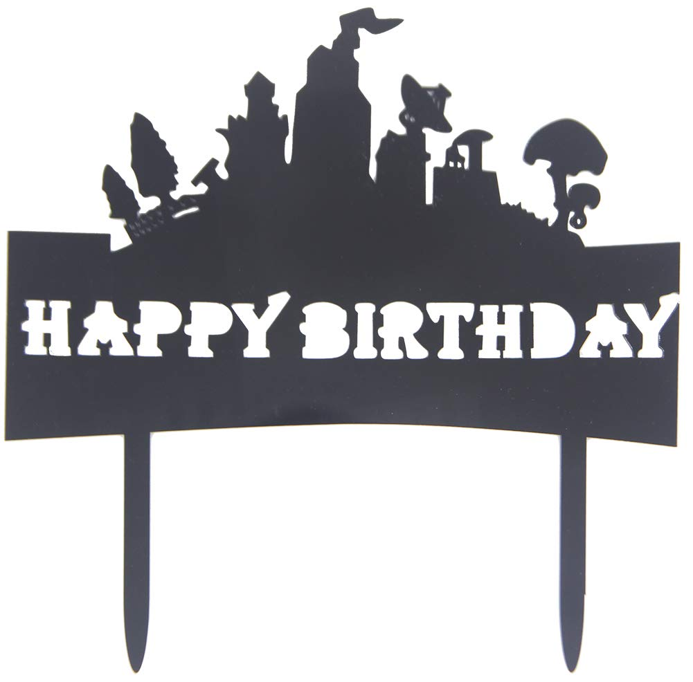Awyjcas Happy Birthday Cake Topper Video Game Party Favors Supplies Baby Boy Birthday Cake Decoration Party Decorations