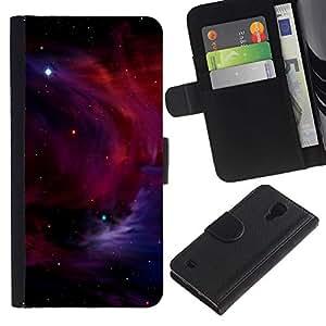 A-type ( Galassia Stelle 5) Colorida Impresión Funda Cuero Monedero Caja Bolsa Cubierta Caja Piel Card Slots Para Samsung Galaxy S4 IV I9500
