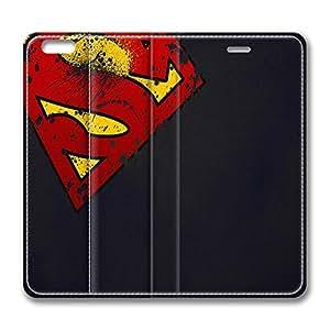 iPhone 6 plus Case, 6 plus Case - Folio Flip Wallet Case Leather Bumper for iPhone 6 plus Superman Logo Luxury Leather Ultra Slim Fit Case for iPhone 6 plus 5.5 Inches