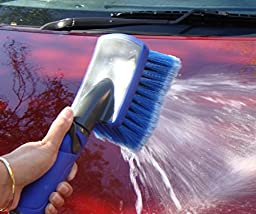 Premium Car Wash Brush - (Free 12mm hose Connector Included) Now on Discount - Super Washes In Under 10 Minutes - Commercial or Home Use - Multipurpose For Cars Boats Vans Bikes SUVs Trucks Greenhouses Driveways Bins Homes Windows & More..