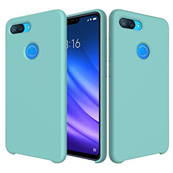 SpiritSun Funda Xiaomi Mi 8 Lite, Líquido Silicona Carcasa Case Suave Flexible Gel TPU Bumper Tapa Shock-Absorción Anti Rasguños Original Funda ...