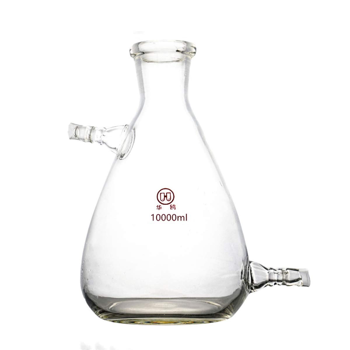 Deschem Glass Filtering Erlenmeyer Flask with Two Suction Vacuum Adapter Lab Filtration Bottle