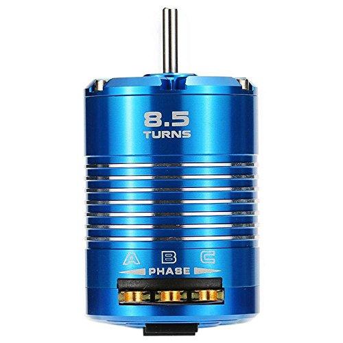 SODIAL(R) High Efficiency 540 Sensored Brushless Motor for 1/10 RC Car Blue, 8.5T 4100KV -