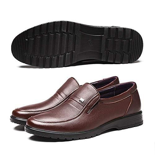 Negocios de Vestir para 5 Cuero cómodos Color con para UK Mocasines de tamaño 5 Hombres 6 HhGold de Hombres Cordones Marrón US Marrón 7 Ocasionales Zapatos 57qngO0