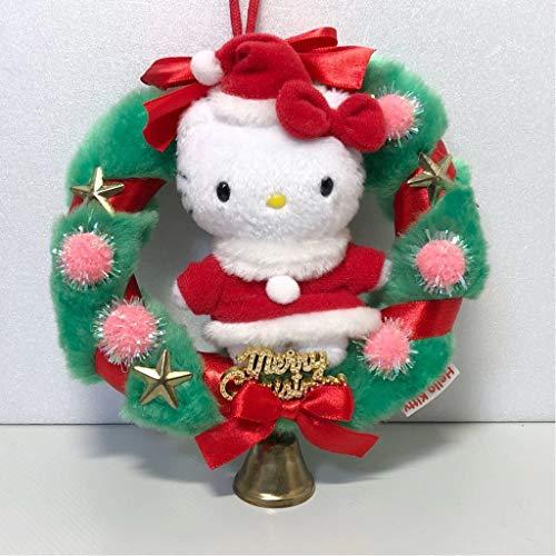 ハローキティ クリスマスリース サンタ ぬいぐるみ