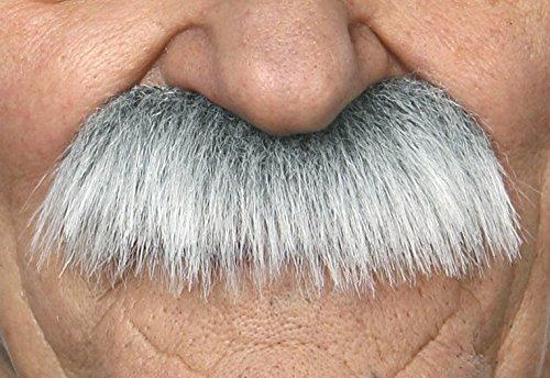 Grandpa's white with gray mustache (Quality Fake Moustache)
