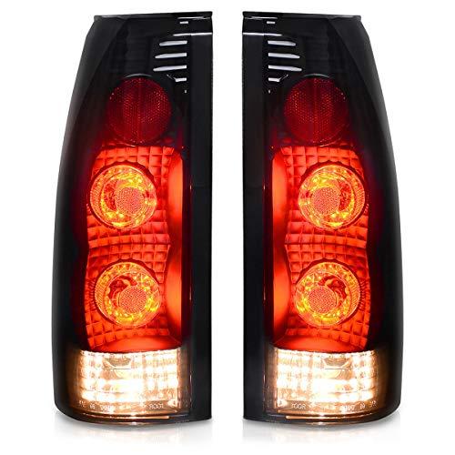 Maxiii Tail Lights Lamps for Chevy Chevrolet GMC C/K 1500 2500 3500 Blazer Tahoe Yukon Suburban Cadillac Escalade Black Smoke Rear lamp