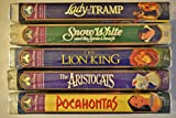 Walt Disney's Masterpiece Collection, Lot of 5 Vhs: Pocahontas, the Aristocats, the Lion King, Snow White and the Seven Dwarfs & Lady and the Tramp [VHS]