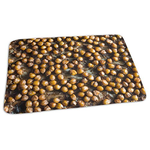 (Unisex Baby Changing Mat Background of Chickpeas in Caramel Crust on by Rasktas Portable Waterproof Baby Diaper Changing Travel Home Change Mat for Boys Girl Newborn)