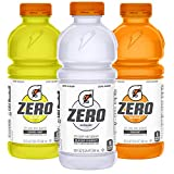 Gatorade Zero Sugar Thirst Quencher, 3 flavor Variety Pack, 20 Ounce Bottles (Pack of 12) Larger Image