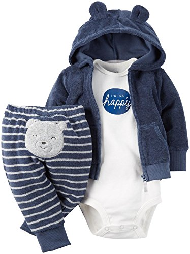 Carter's Baby Boys 3 Pc Sets 126g281, Blue, 3 Months