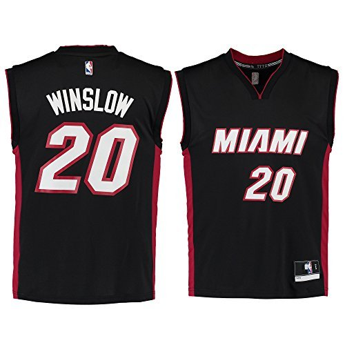 Justise Winslow Miami Heat #20 Black Road Replica Jersey (Large 14/16)