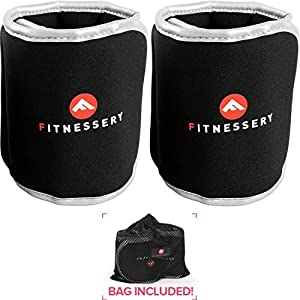 Well-Being-Matters 51HRSGAJ7xL._SS300_ Ankle Weights - Choice of 1lb, 2lb, 3lb, 4lb and 5lb Ankle Weight Sets - Ankle Weights for Women and Men - Wrist Weights…