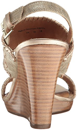 Stacked Women's Vanessa Wedge Rogers Sandal Platinum Jack AqwtS8xt