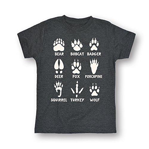 Animal Tracks-Toddler Short Sleeve TEE-4T (Animal Tracks T-shirt)
