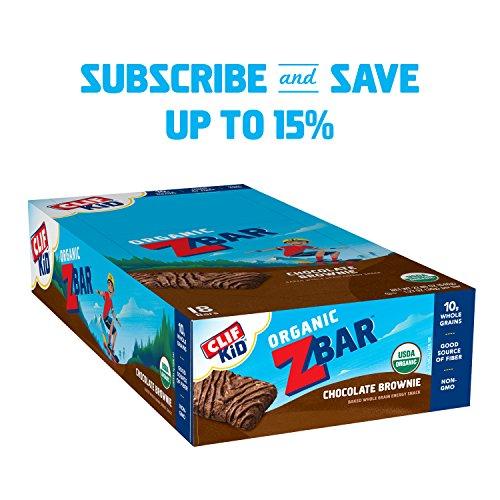 CLIF KID ZBAR - Organic Energy Bar - Chocolate Brownie - (1.27 Ounce Snack Bar, 18 Count) by Zbar (Image #1)