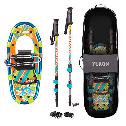 Snowshoes Kids - Yukon Charlies Snow Bash Youth Aluminum Snowshoe Kit